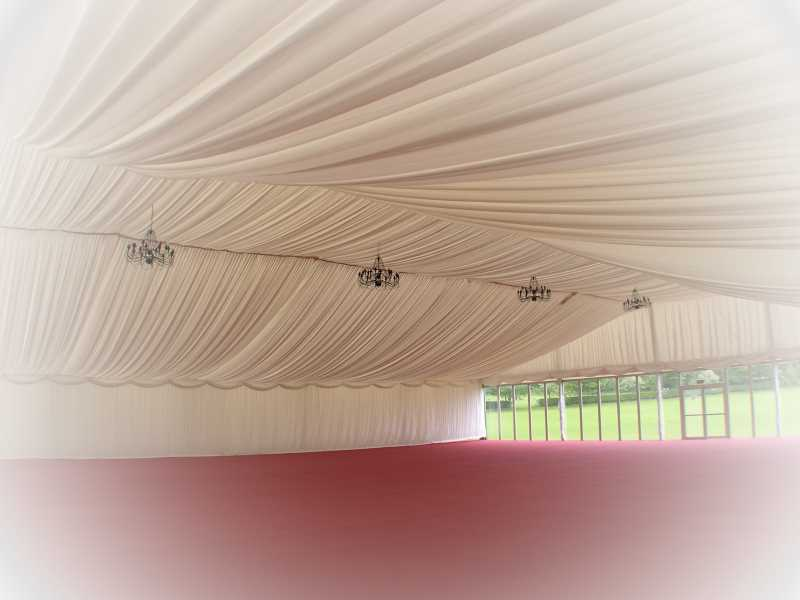 pleated marquee linings