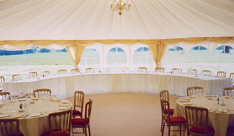 waisted marquee lining drapes