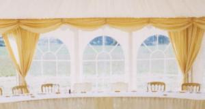 Window drapes for Marquee
